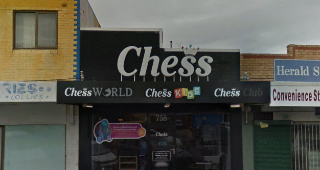 Chess World Store Front. Melbourne, Australia