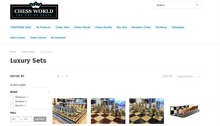 Chess World Website