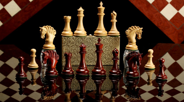 The Pegasus Series Artisan Staunton Chess Pieces