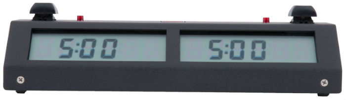 Chronos Digital Chess Clock - Black, Touch Version