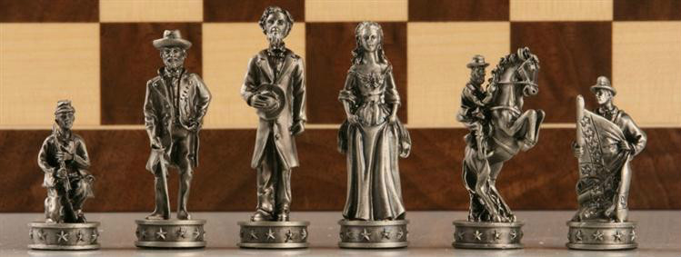 Civil War Chess Pieces Set
