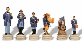 Civil War Theme Chess Set