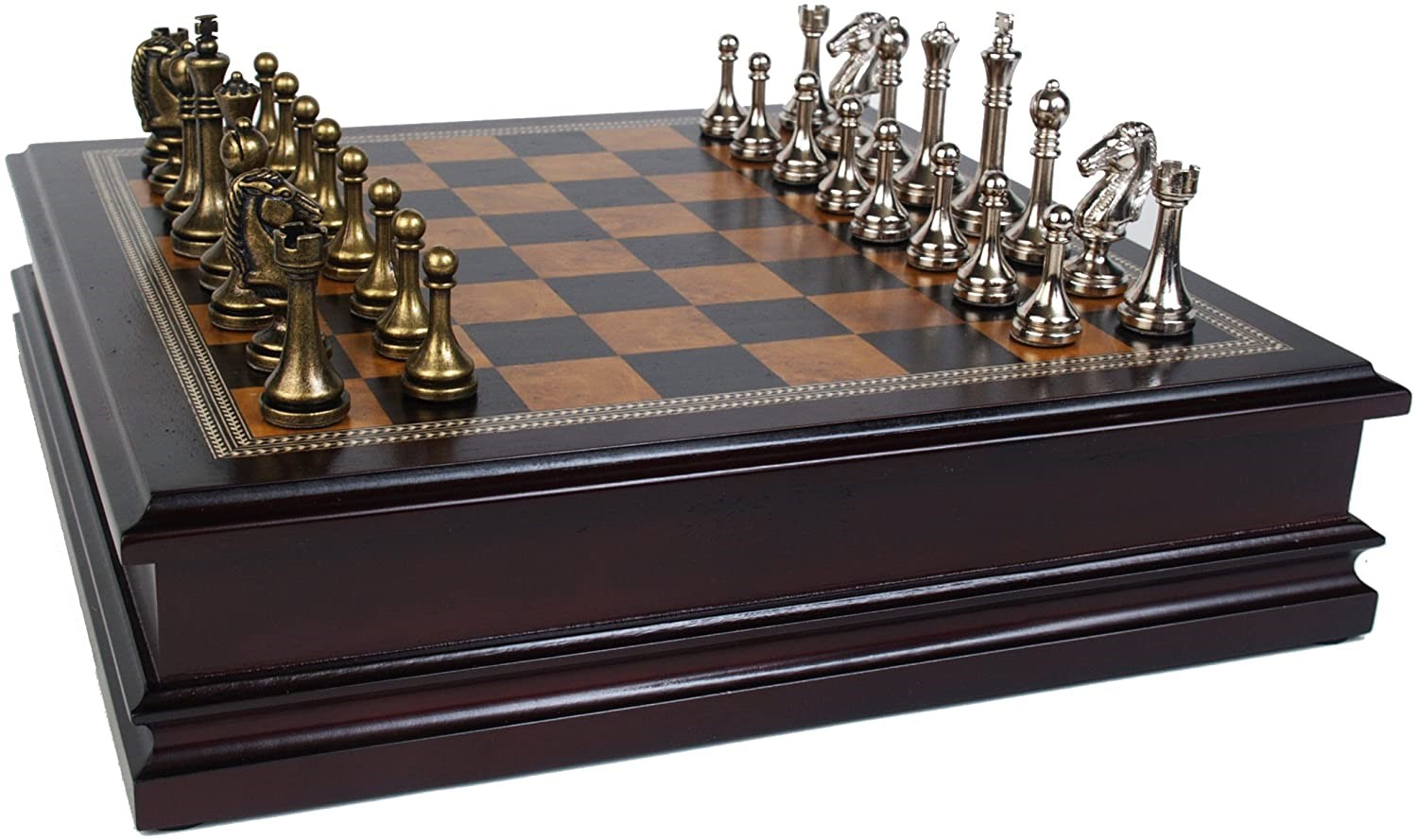 Classic Game Collection Wooden & Metal Chess Set