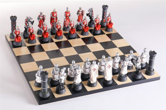 Crusade Knights Chess Set