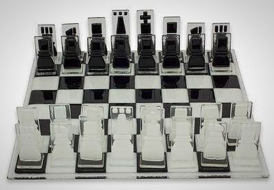 The Crystalline Challenge Chess Set