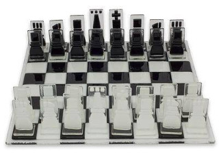 The Crystalline Challenge Chess Set.