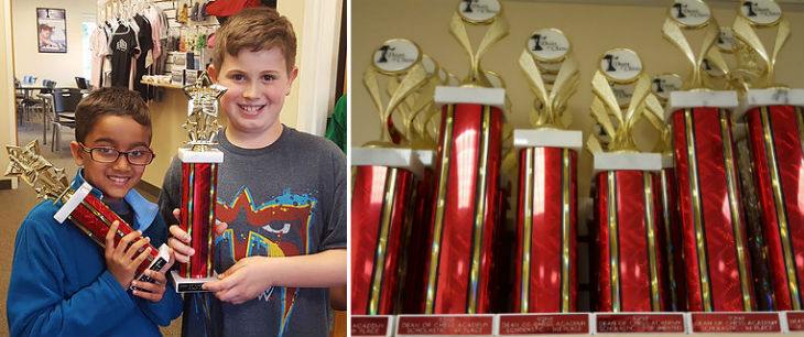 Dean of Chess Academy Trophies and Winners