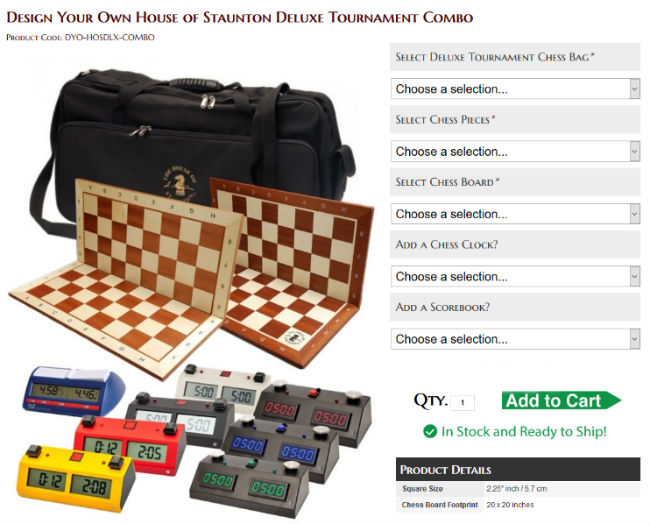 Design Your Own House of Staunton Deluxe Tournament Combo