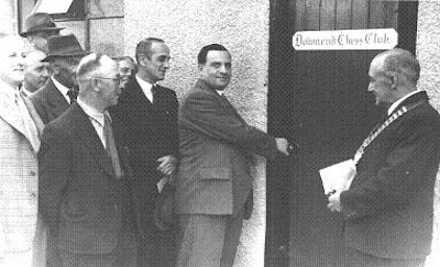 The opening of the hut of the Downend chess club in June 1950