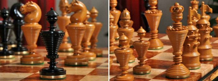 The Anglo-Dutch Reproduction Luxury Wood Chess Pieces