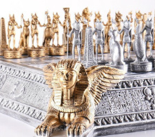 Gold & Silver Egyptian Chess Set