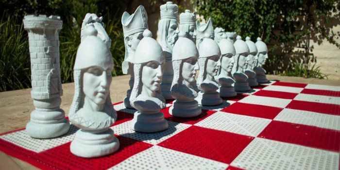 Medieval Fiberglass Giant Chess Set