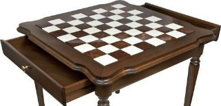 Genuine Italy Alabaster Antique Chess Table