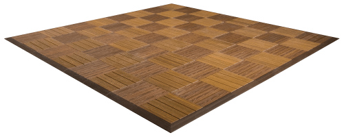 MegaChess Commercial Grade Synthetic Wood Giant Chess Board With 12 Inch Squares 8' x 8'