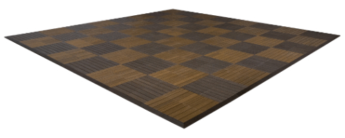 MegaChess Commercial Grade Synthetic Wood Giant Chess Board With 24 Inch Squares 16' x 16'