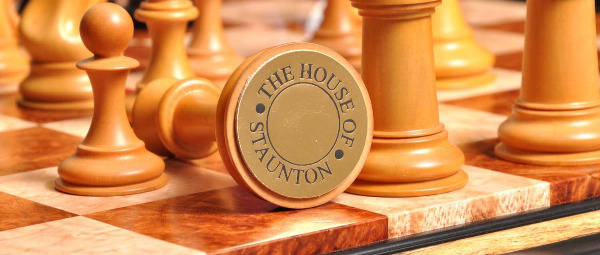 The Golden Collector Series Luxury Chess Set - The House of Staunton Signature on The Chess Piece Base