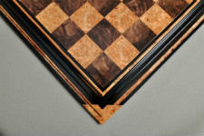Signature Contemporary Chess Board - WALNUT BURL / MAPLE BURL