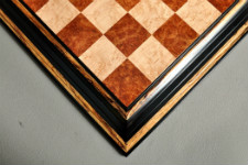 Signature Contemporary Chess Board - RED AMBOYNA / BIRD'S EYE MAPLE