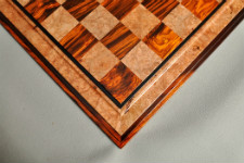Signature Contemporary III Chess Board - Cocobolo / Maple Burl