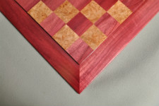 Custom Contemporary Chess Board - Purpleheart / Maple Burl