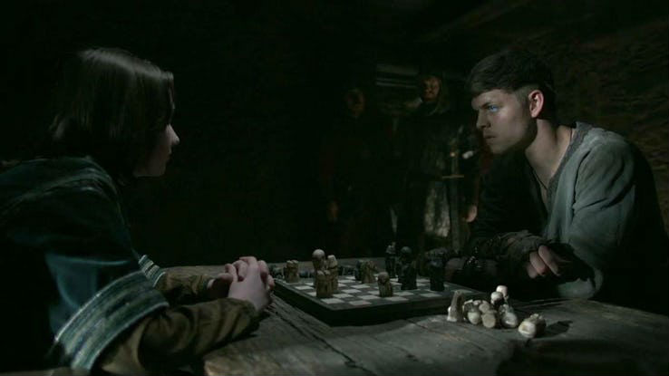 "A Hnefatafl game between Ivar The Boneless and Alfred The Great, featured on the TV Series ""Vikings"" show"