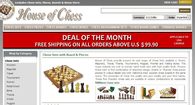 House of Chess Homepage