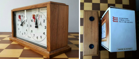 INSA Wooden Mechanical Chess Clock