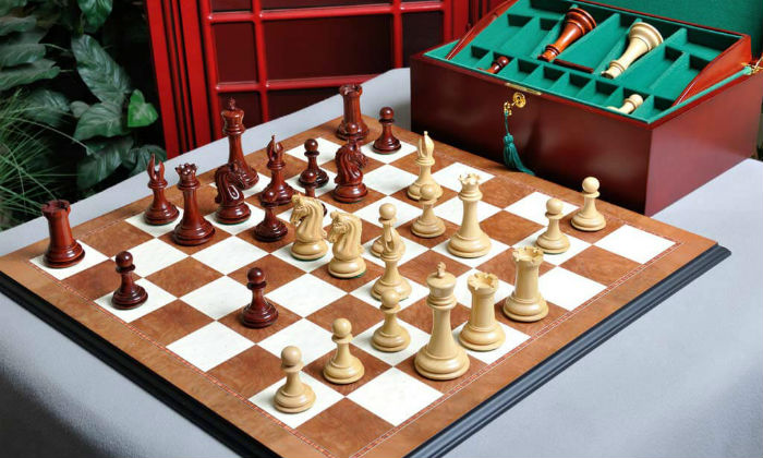 The Imperial Collector Chess Set, Box, & Board Combination