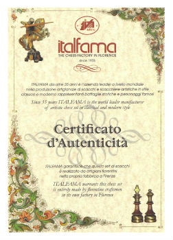 Italfama Certification of Authenticity