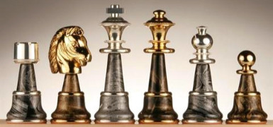 The Italian Gold & Silver Plated Chess Set
