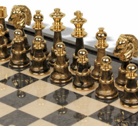 Variegated Gold & Silver Chess Set Package