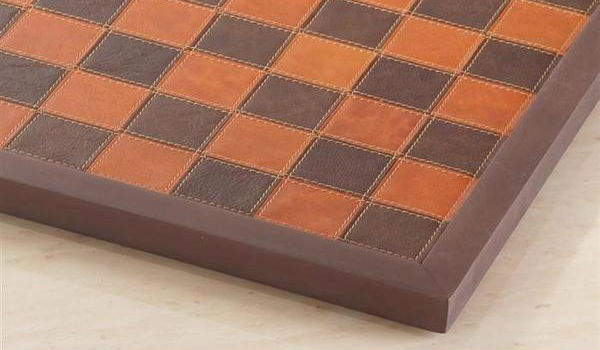 Italy Genuine Leather Framed Chess Board
