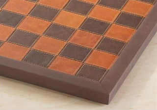Italy Genuine Leather Framed Chess Board 14.25""