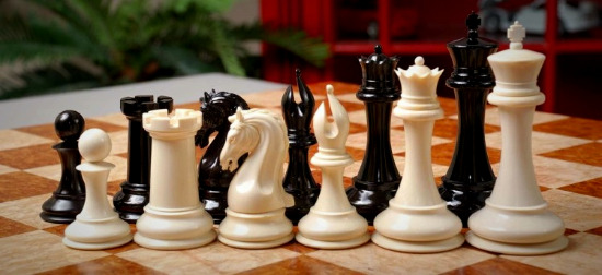 "The Mammoth Ivory Collector Series Luxury Chess Pieces - 4.4"" King"