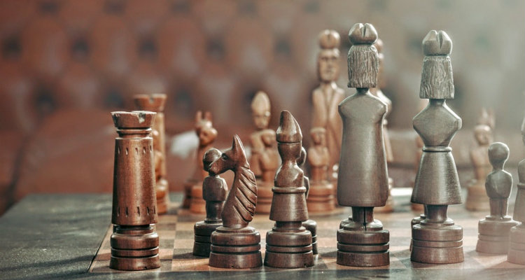 Dusty Wooden Chess Set