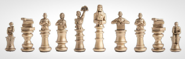 """""""Approach the Bench"""" Legal Chess Set Pieces"""