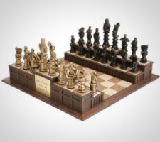 """Approach the Bench"" Legal Chess Set"
