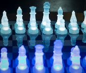 The LumiSource LED Glow Chess Set
