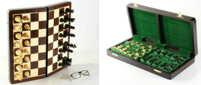 "The Large 15 3/4"" Folding Magnetic Chess Set"