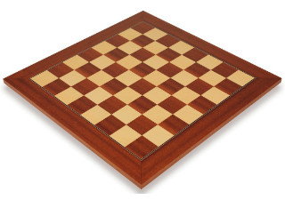Mahogany & Maple Deluxe Chess Board