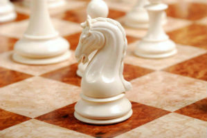 The Mammoth Ivory Collector Series Luxury - Knight Chess Piece