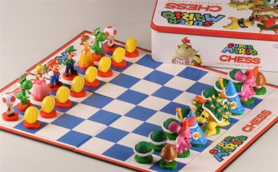 The Super Mario Bros Chess Set - Board, Pieces & Box