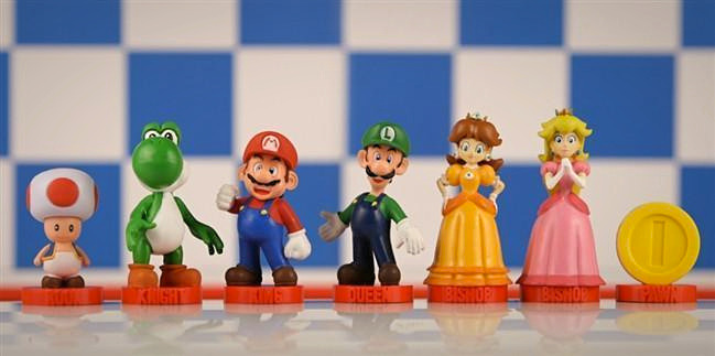 The Super Mario Bros Chess Set