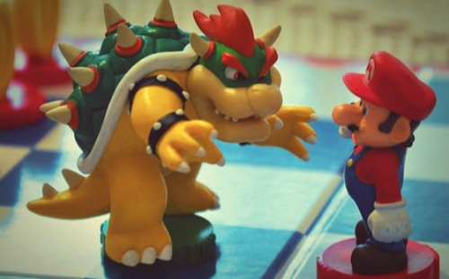 The Super Mario Bros Chess Set - Bowser & Mario