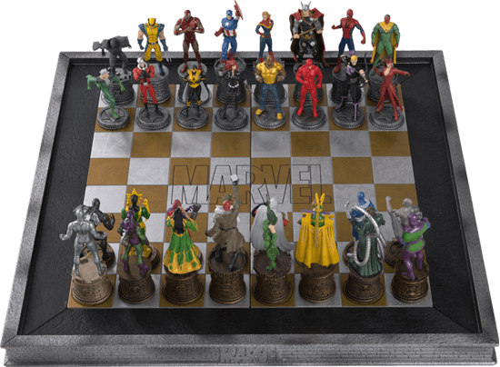The Marvel Chess Collection with a Marvel Chess Board