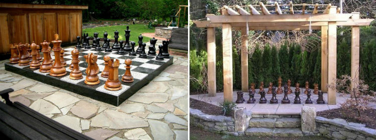 MegaChess giant chess sets in public gardens