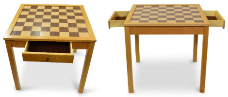 MegaChess Giant Chess Table with Open Drawer