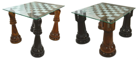 MegaChess 36 Inch Etched Glass Giant Chess Table