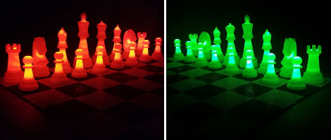 The Perfect 26-inch Plastic Light-Up Giant Chess Set