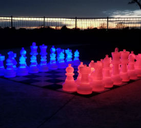 MegaChess 25 Inch Plastic Light-up LED Giant Chess Set